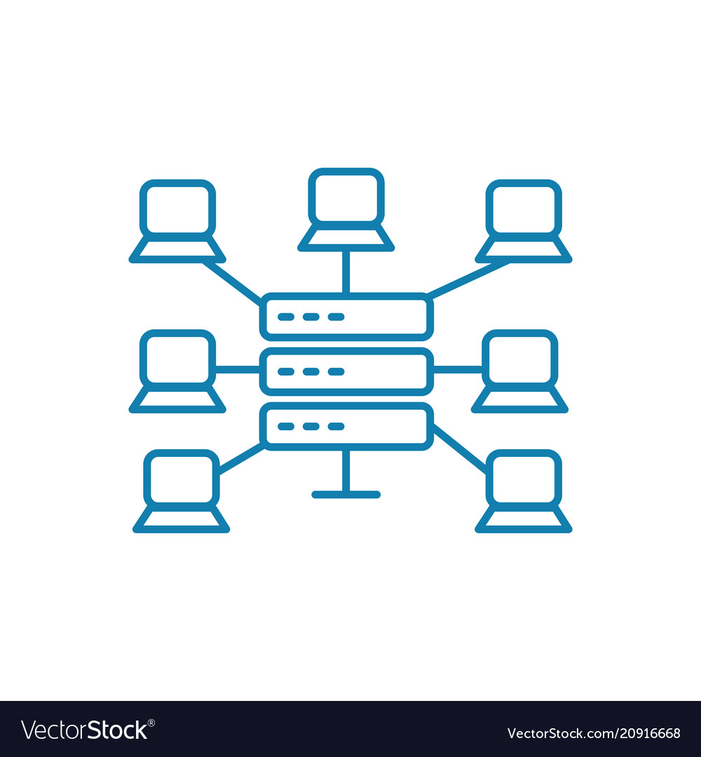 Global network linear icon concept global network vector image