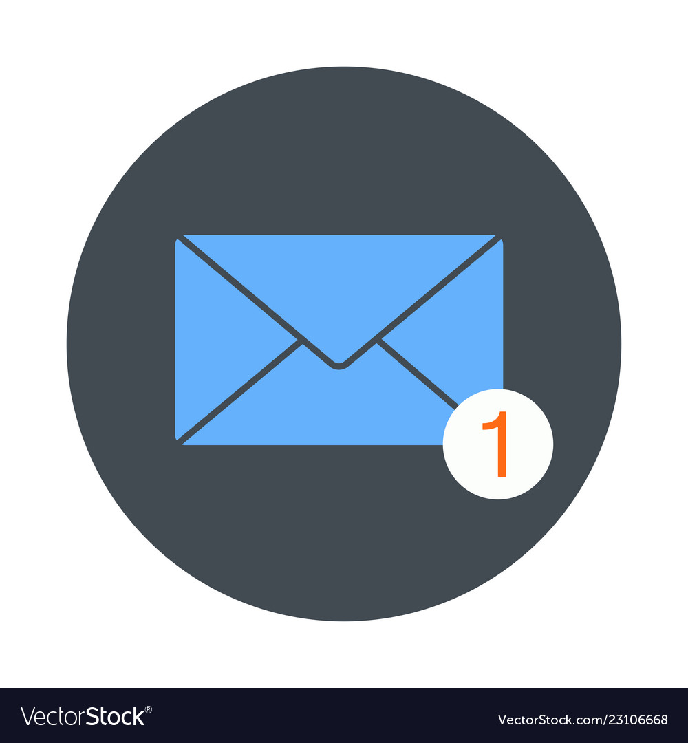 Icon of new email envelope image
