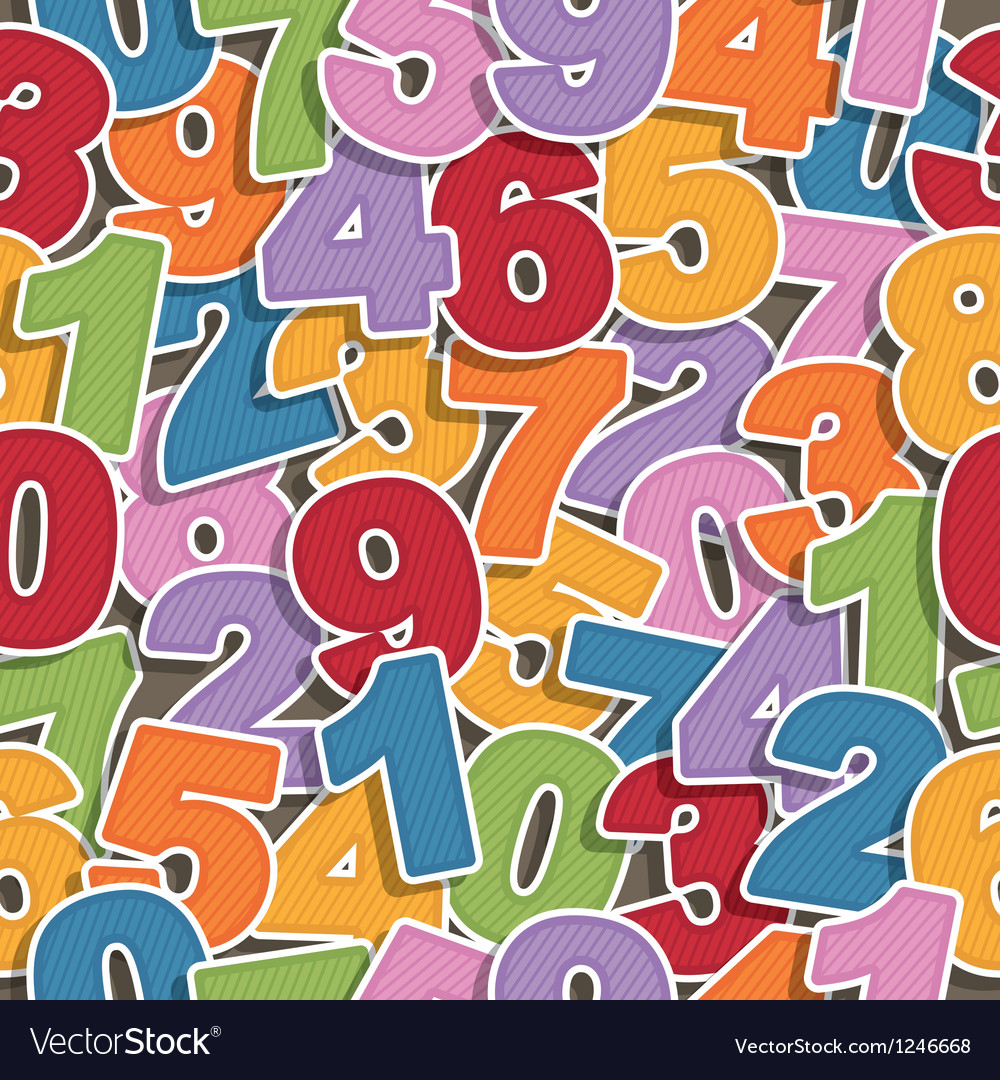 Number pattern vector image