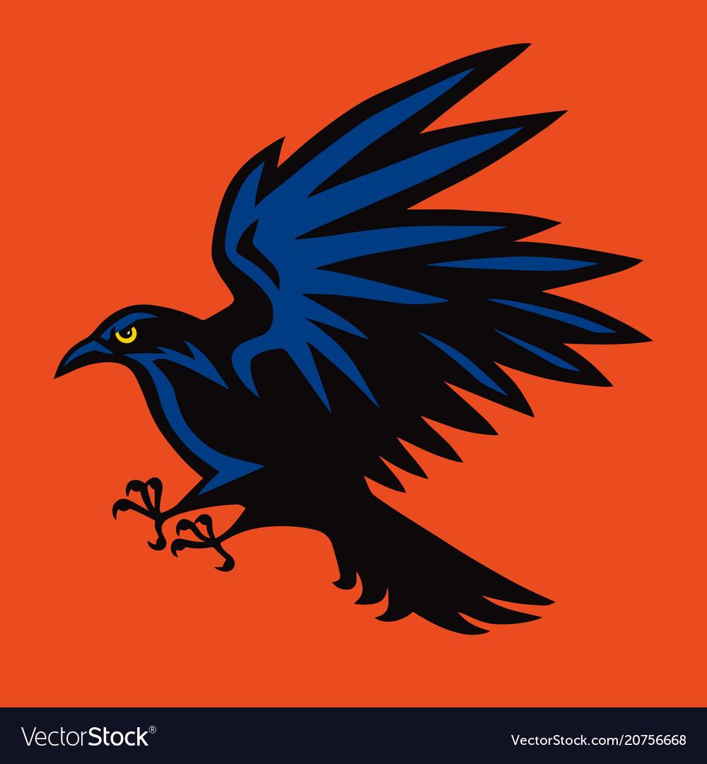 Raven logo angry bird sport mascot icon