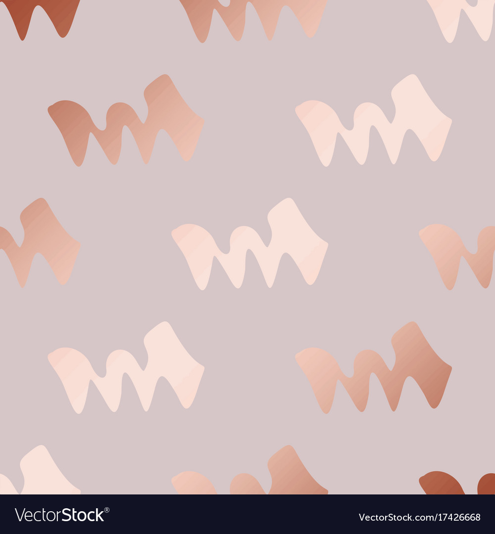 Rose gold decorative pattern with abstract