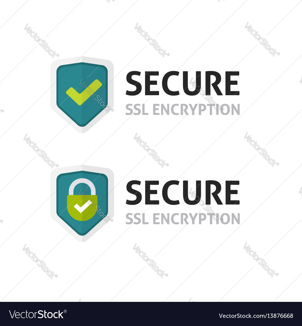 Ssl Certificate Icon Secure Encryption Royalty Free Vector
