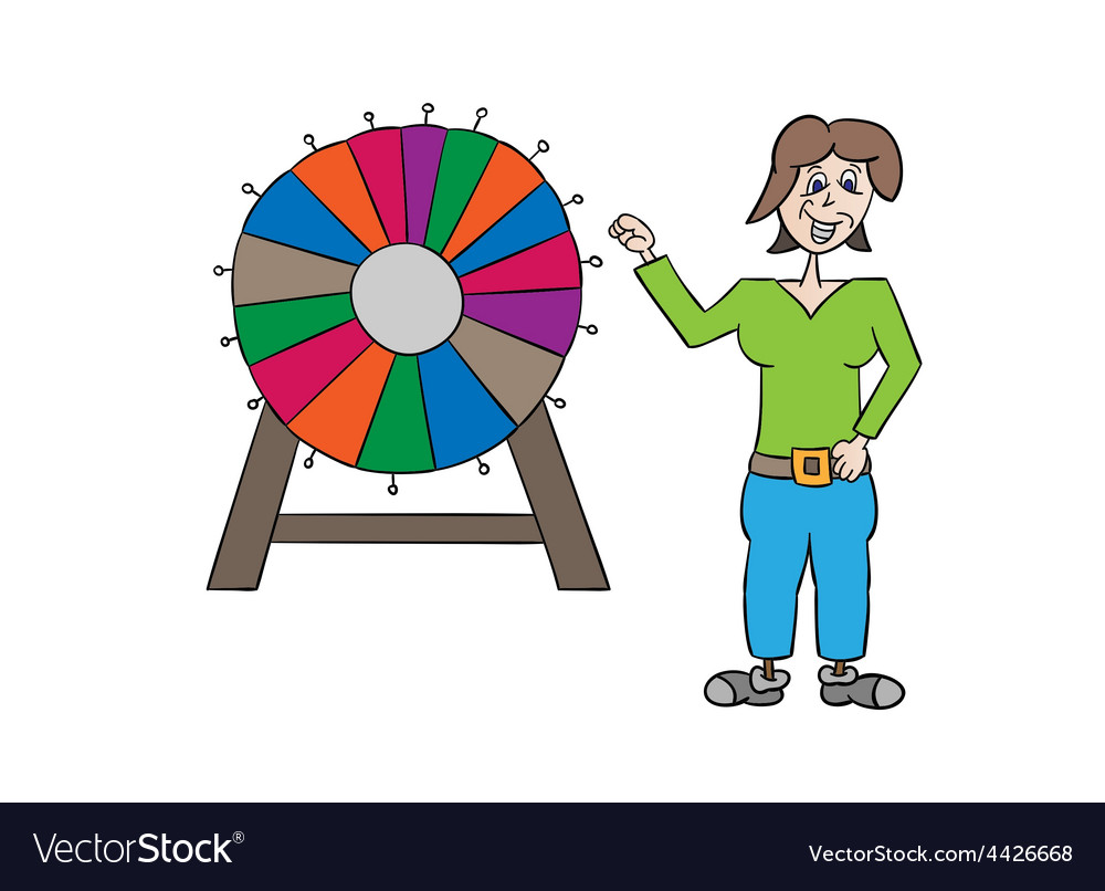 Wheel of fortune and woman