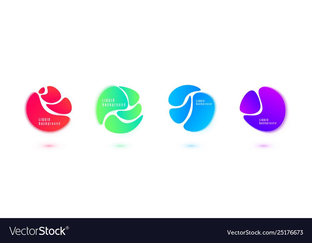 Abstract liquid shape design fluid