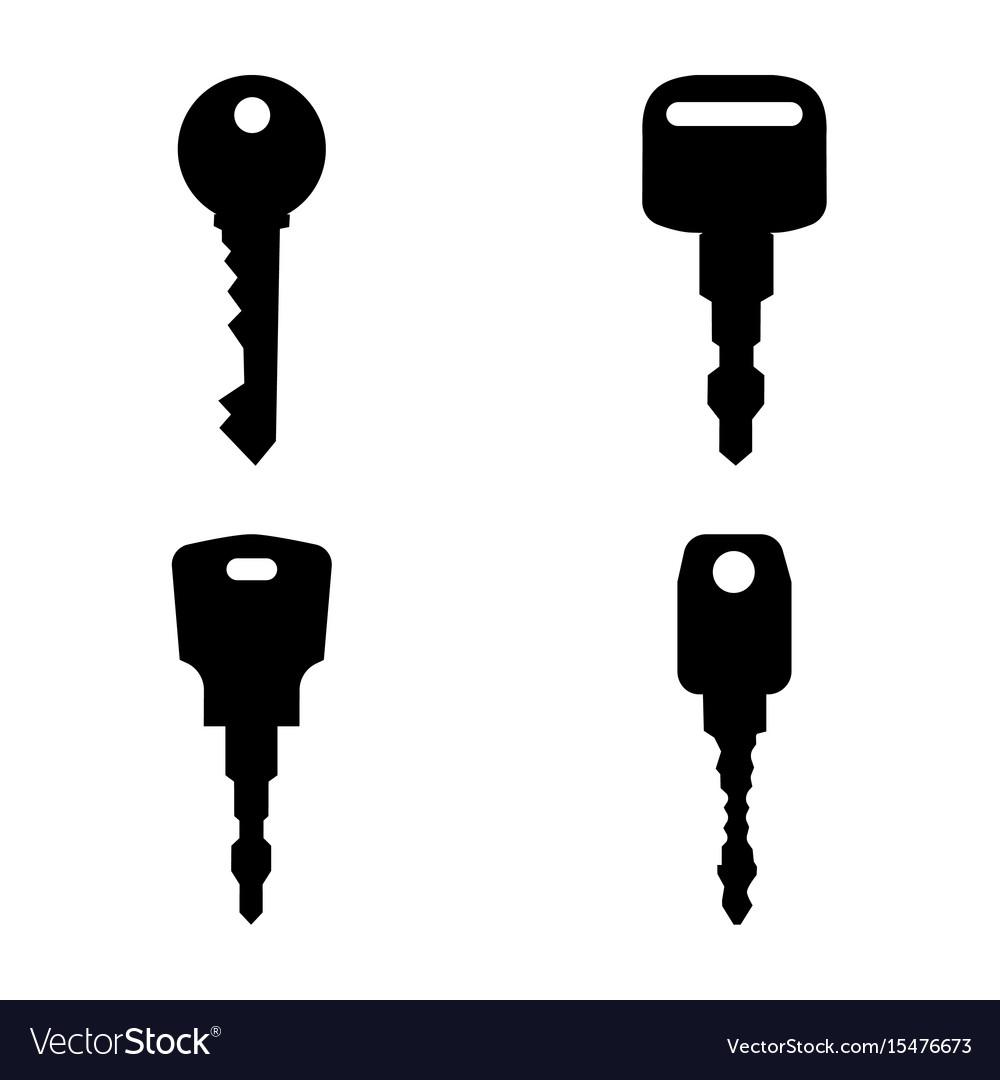 Black keys silhouettes