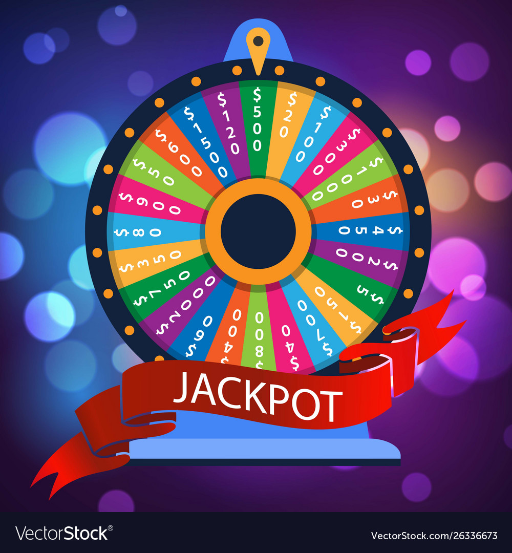 Casino spinning luck wheel or turning fortune
