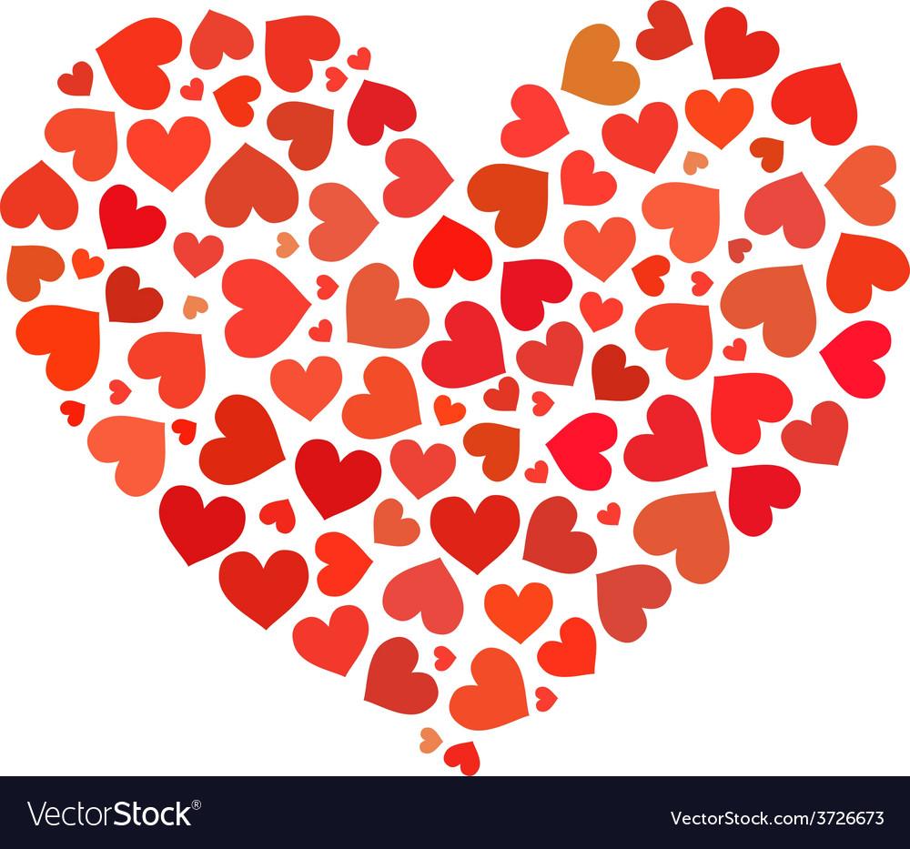 Heart made up hearts flat