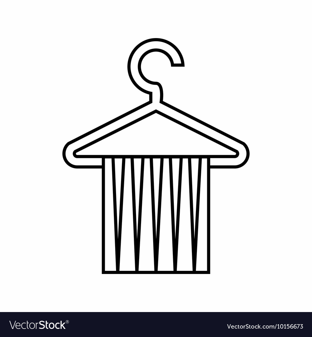 Towel rack icon outline style