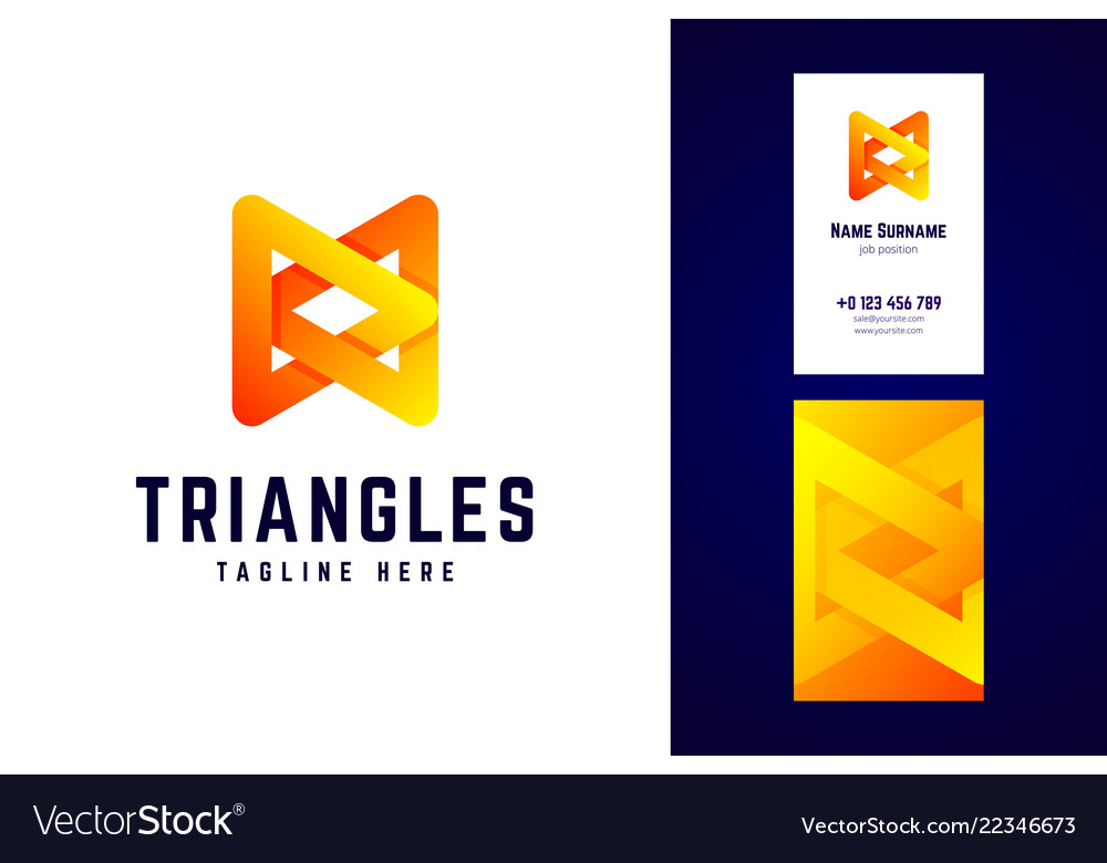 Triangles logo and business card template