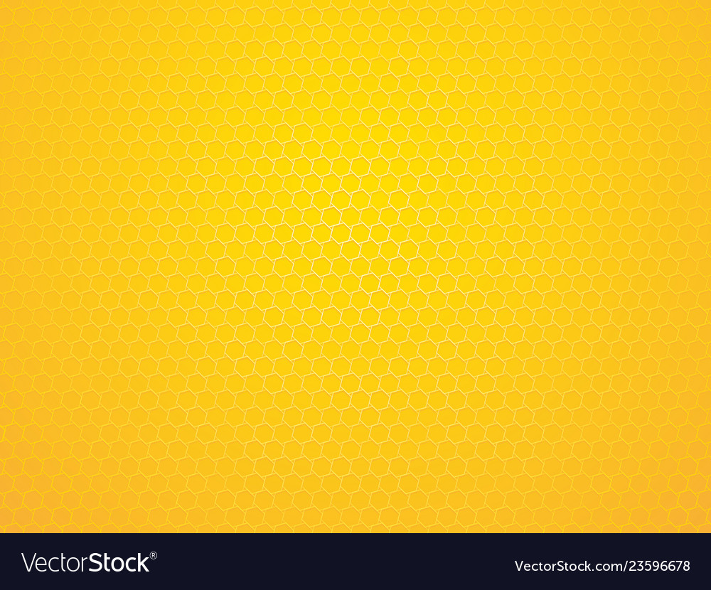 Abstract yellow geometric hexagon background
