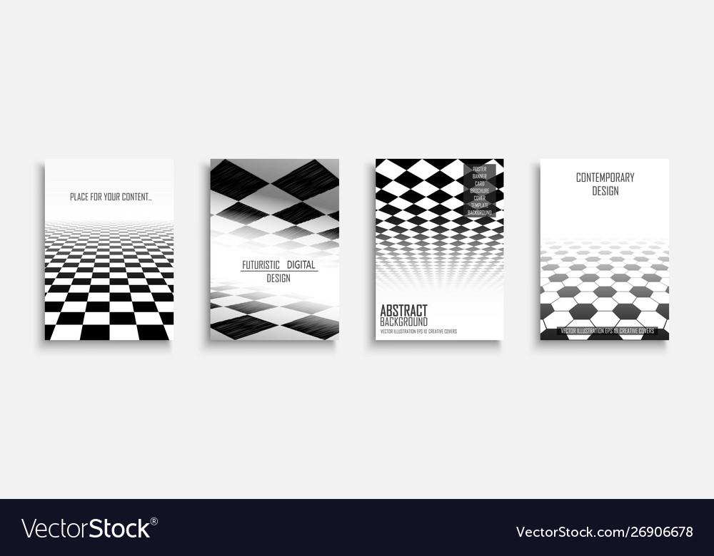Collection abstract contemporary templates