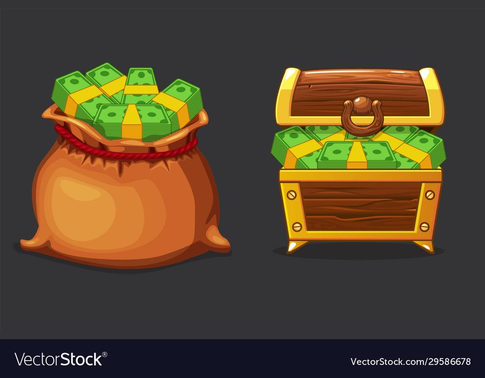 Full bag bag and chest money