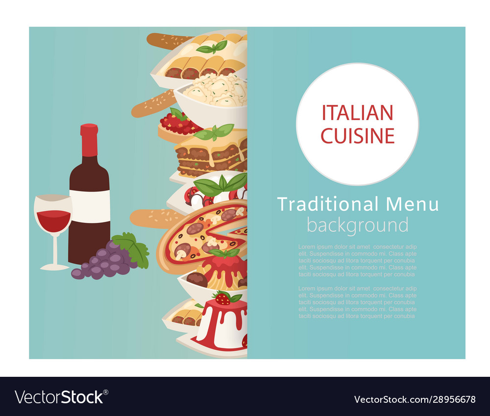 Italian cuisine food banner with cooking pizza