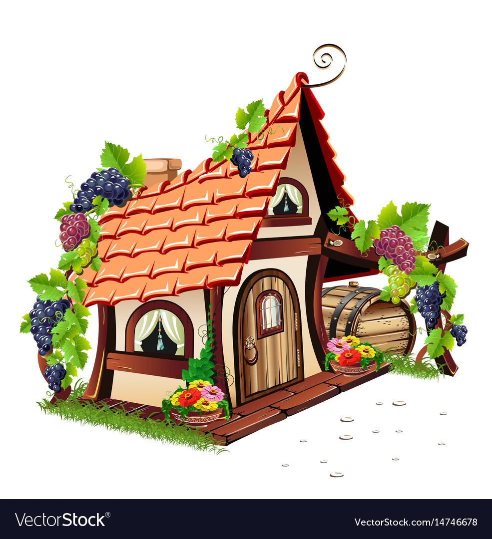 Little fairy house vector image