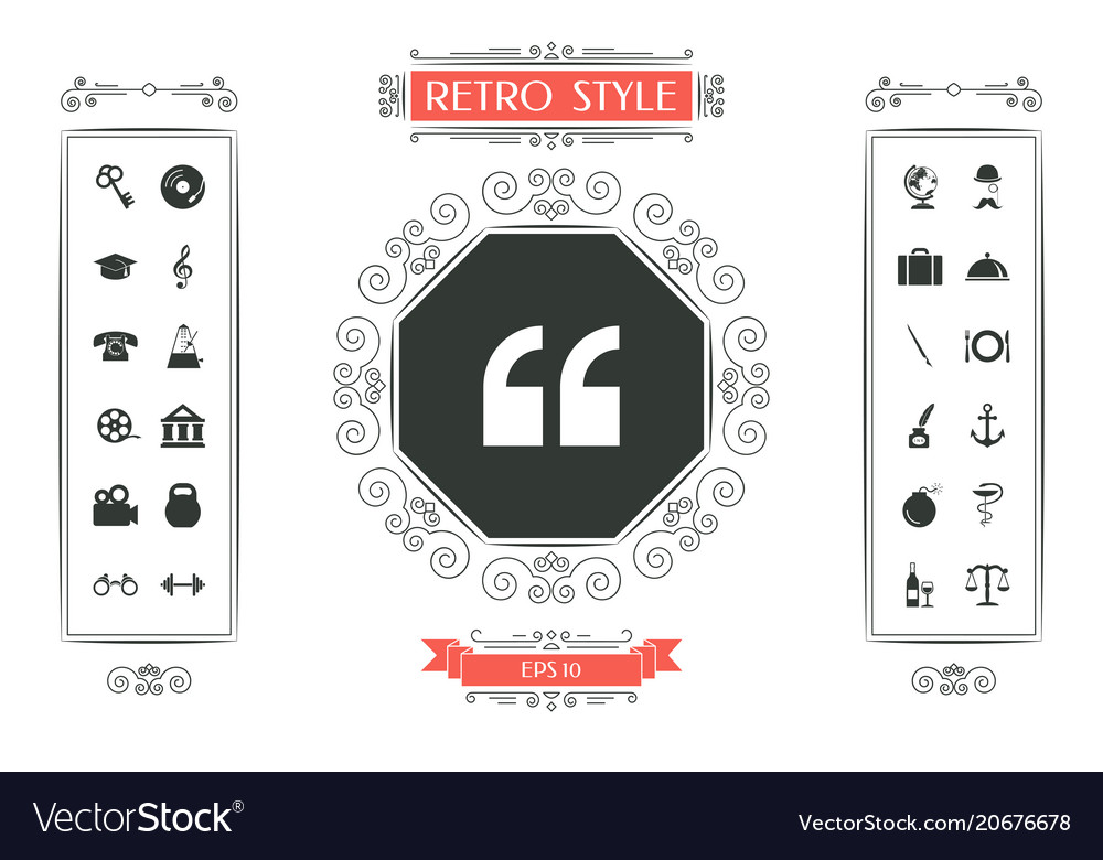 Quote Icon Symbol Royalty Free Vector Image VectorStock Awesome Get Quote Icon