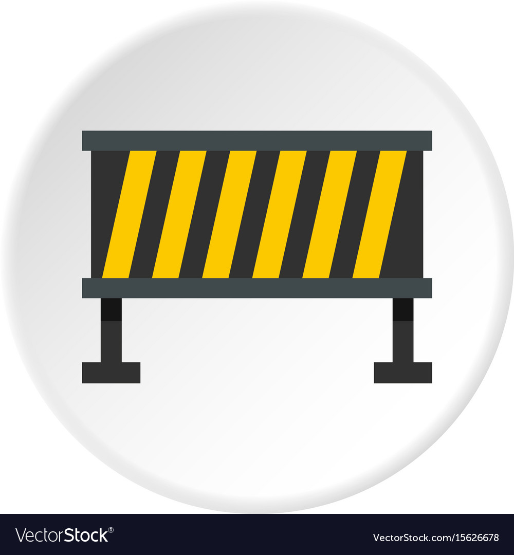 Safety barricade icon circle