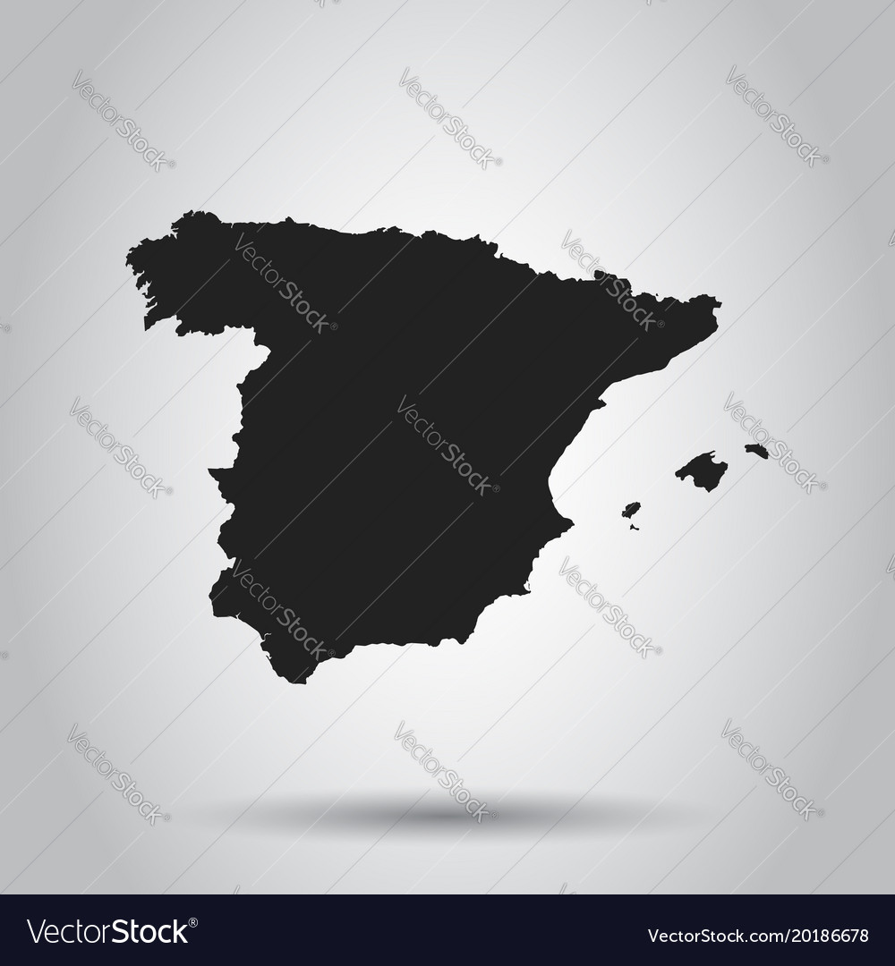 Spain map black icon on white background vector image gumiabroncs Images