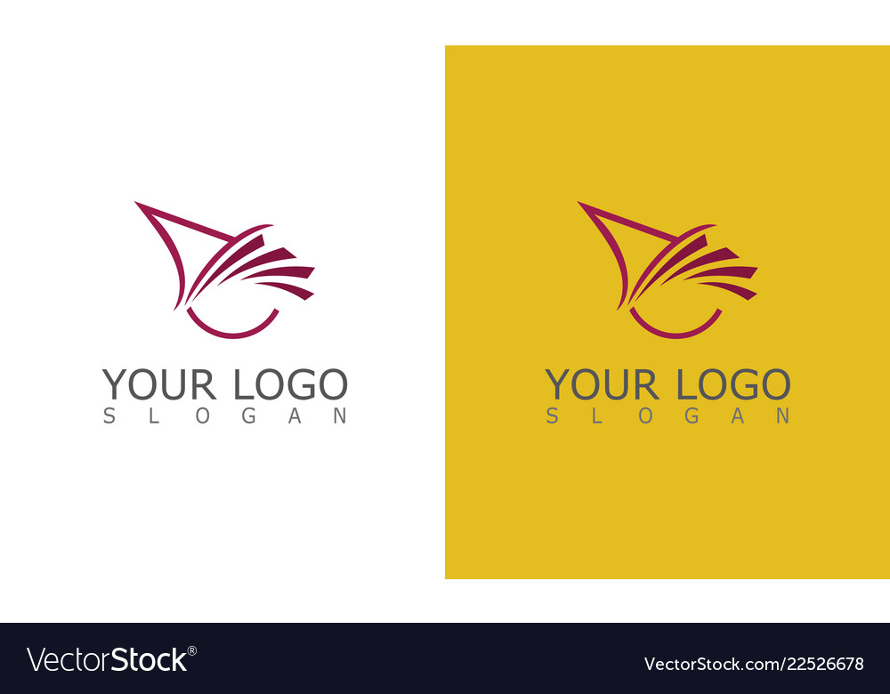 Triangle wing abstract logo