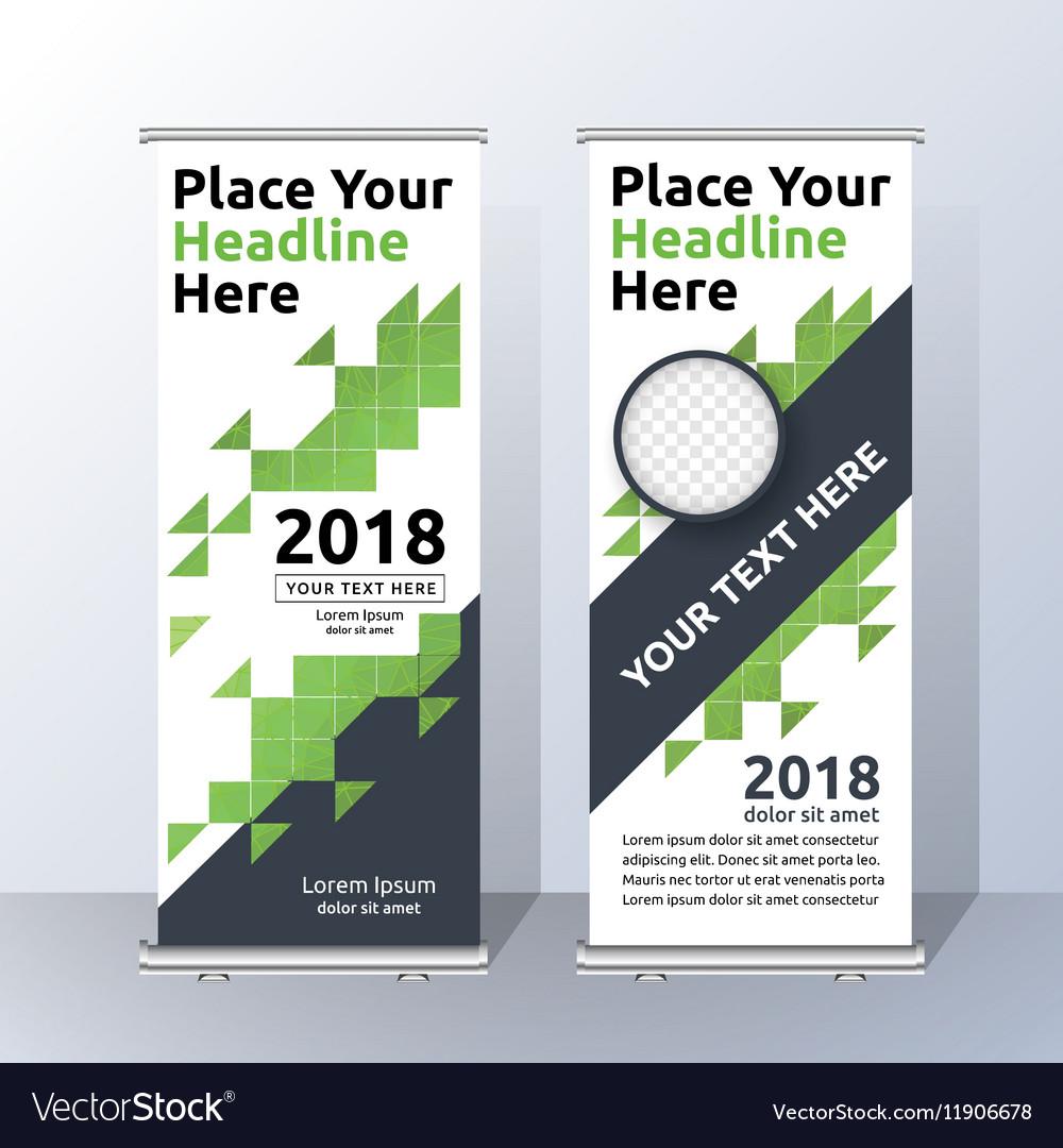 Vertical Roll Up Banner Template Design