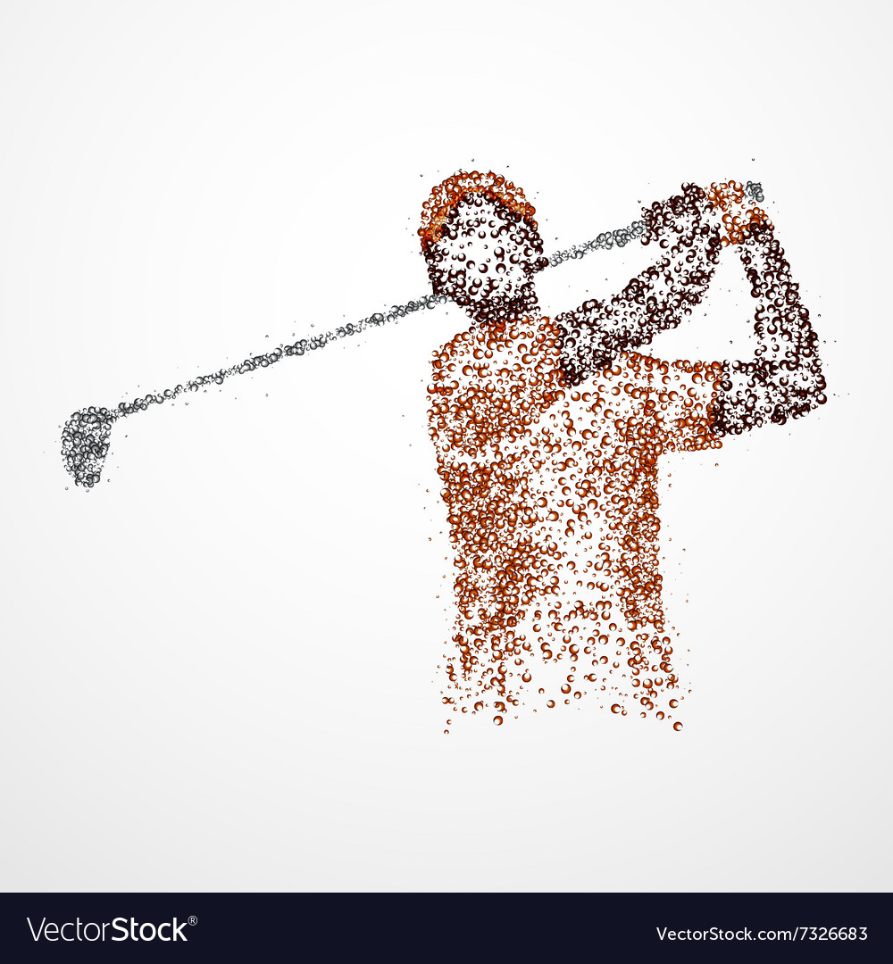 Abstract golfer athlete