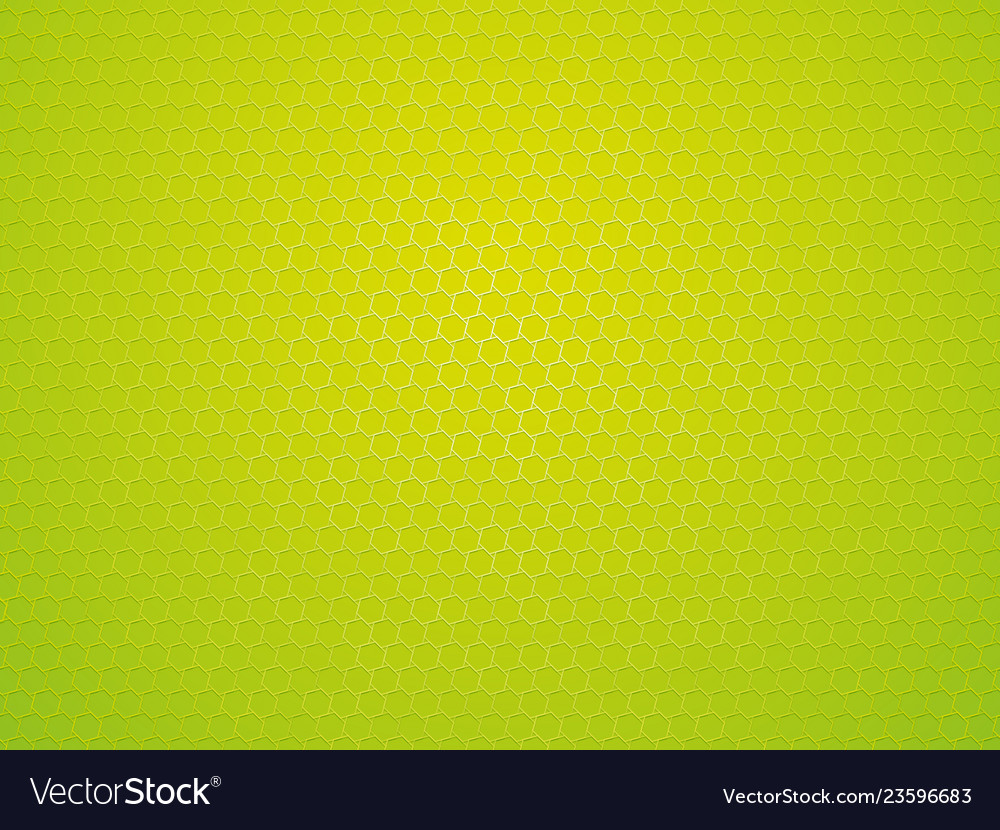 Abstract green geometric hexagon background