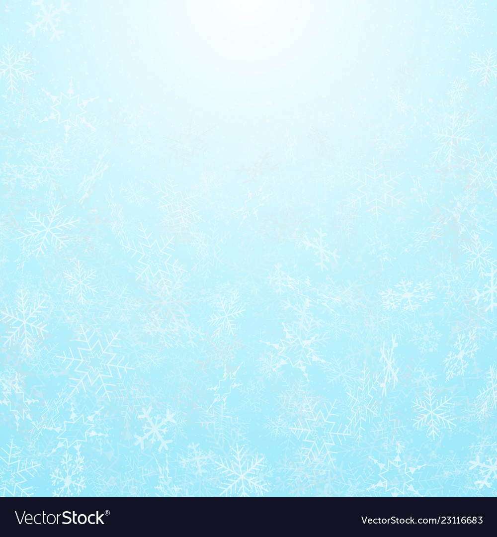 Abstract of christmas festival snowflakes with