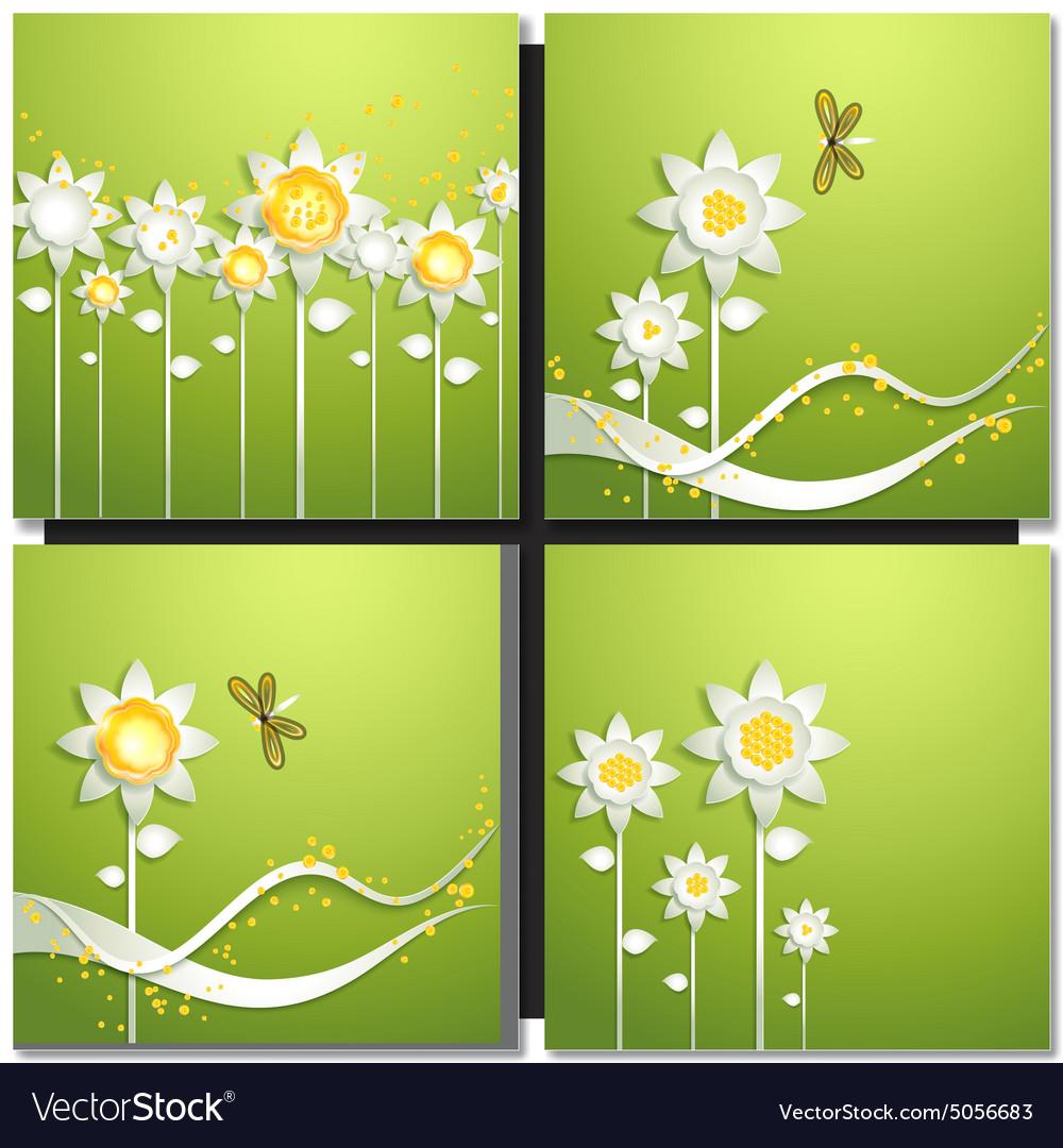 Eco green concept summer card