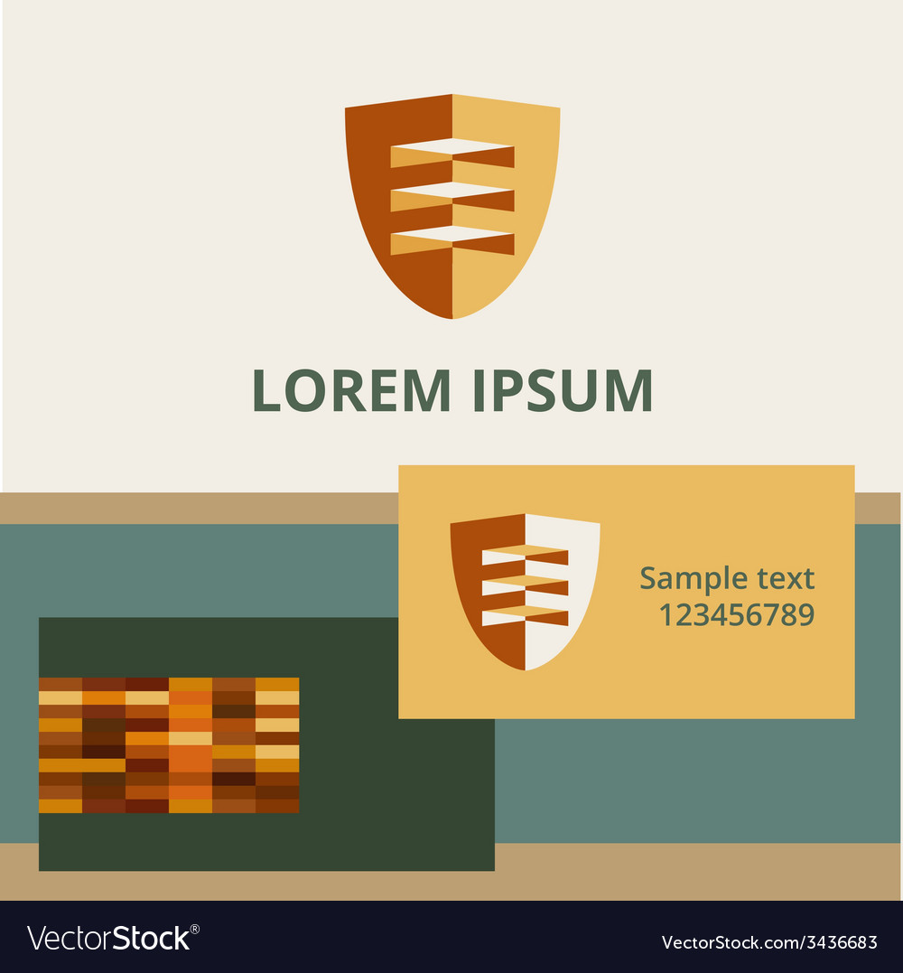 Editable template logo and brand elements