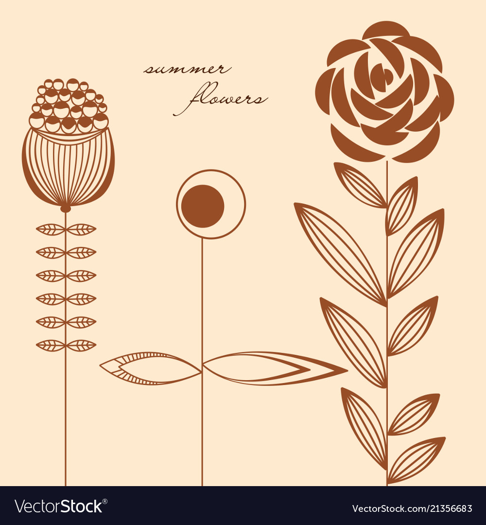 Flowers design elements