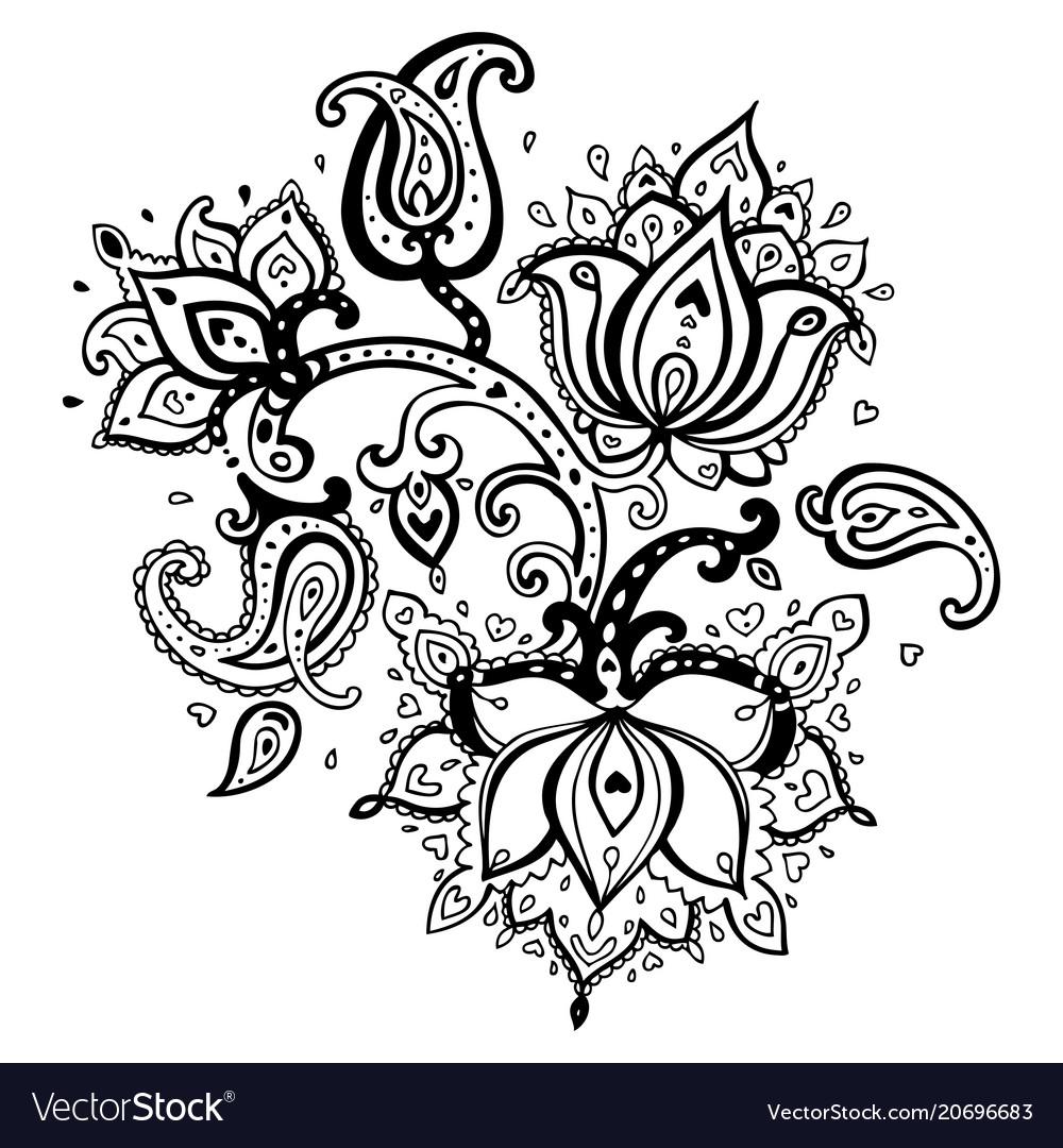 Hand drawn paisley ornament