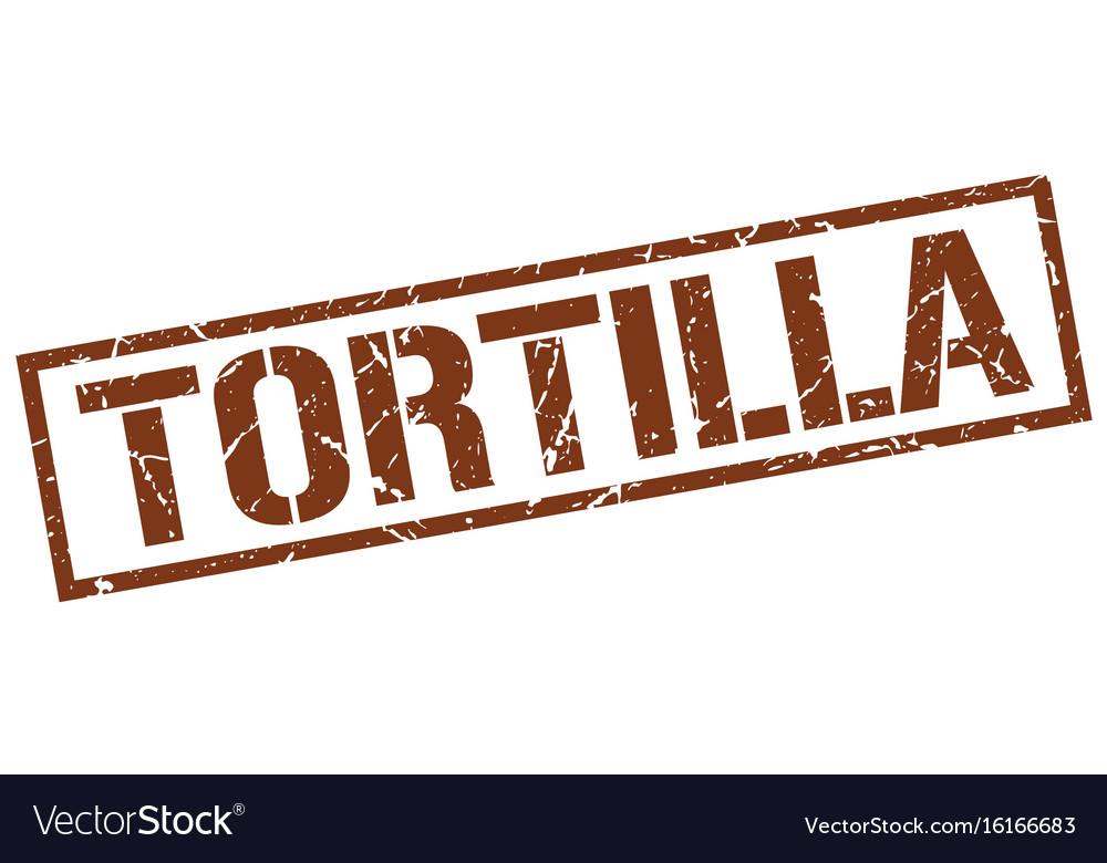 Tortilla stamp vector image