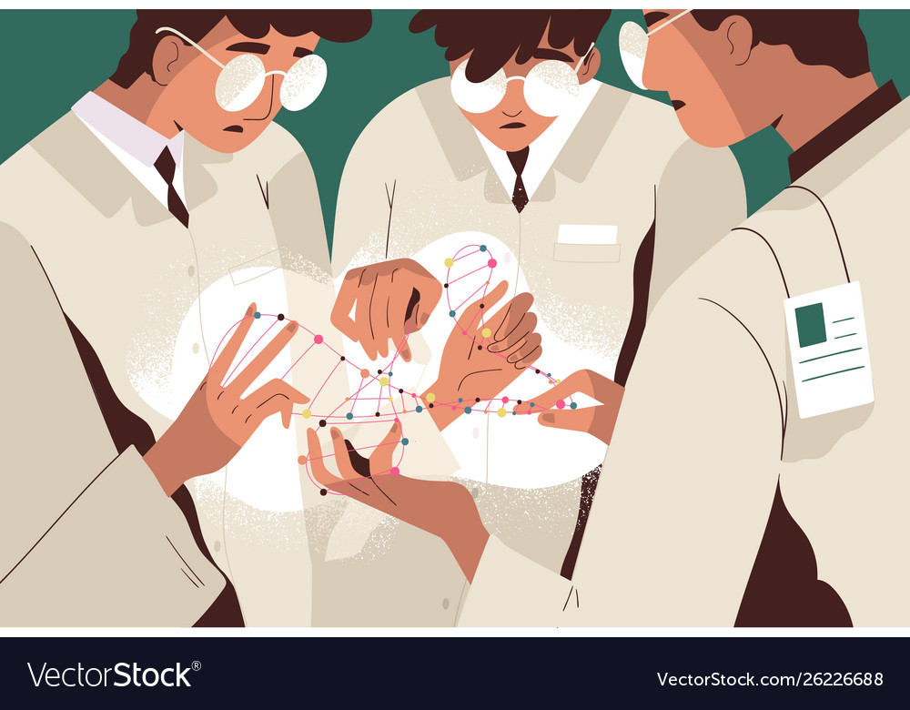 Group scientists or researchers in lab coats
