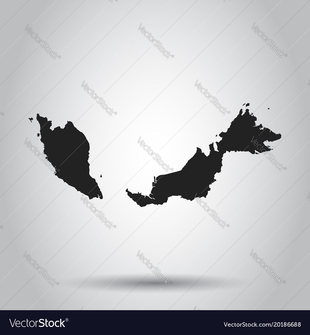 Malaysia map black icon on white background vector image gumiabroncs Images
