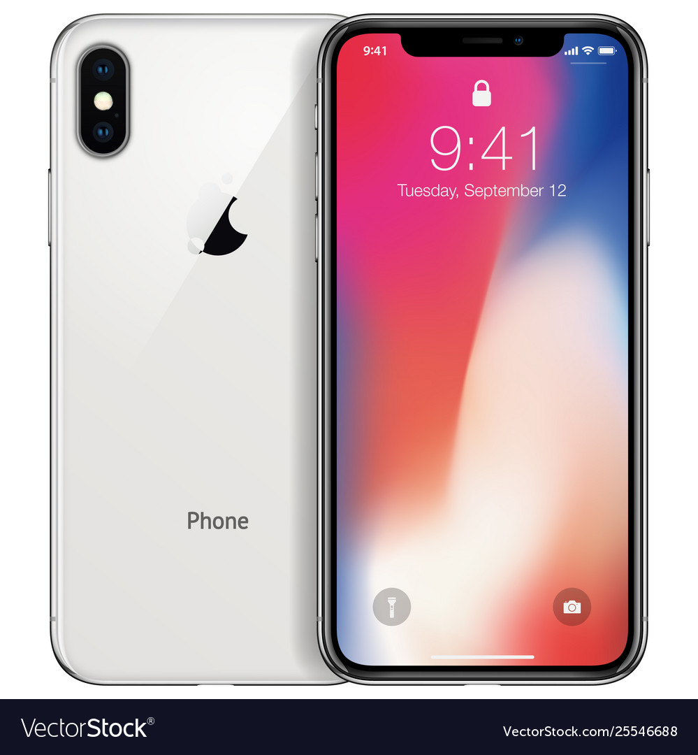 New phone front and white back drawing
