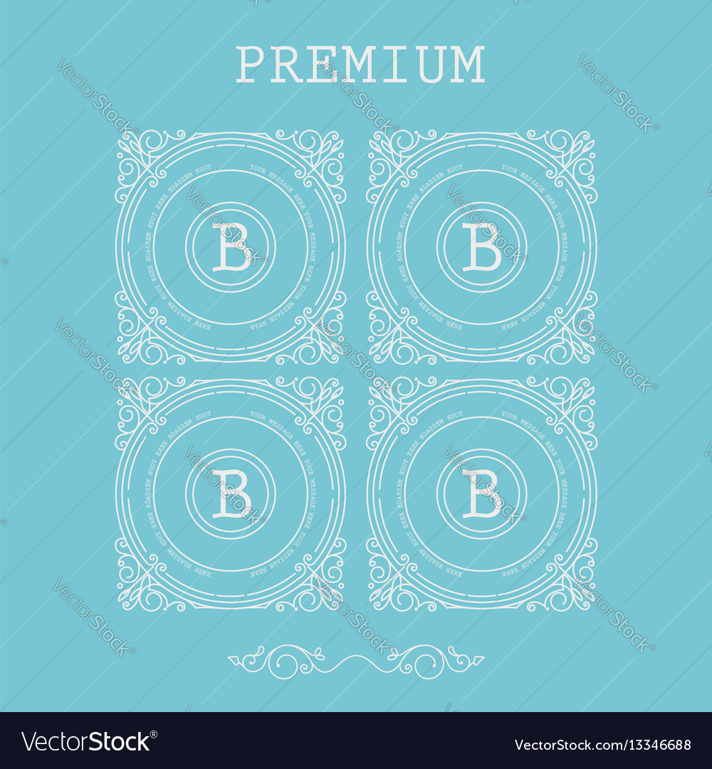 Set of monogram letter b