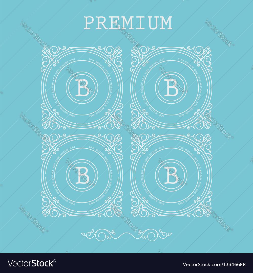 Set of monogram letter b vector image