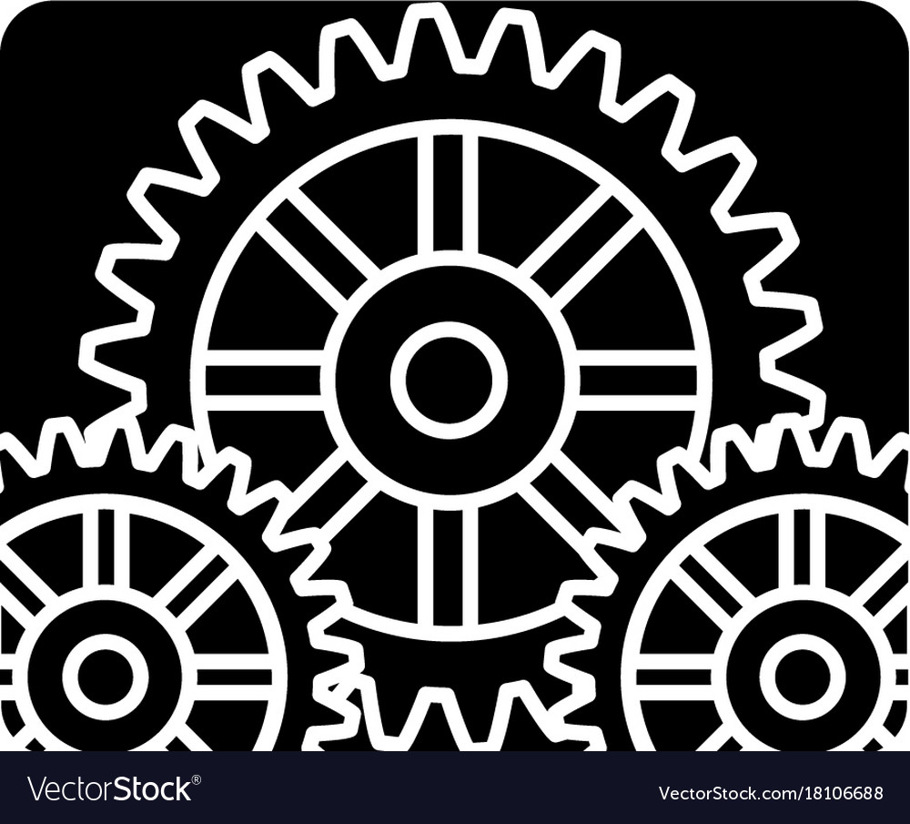 Settings engine icon black