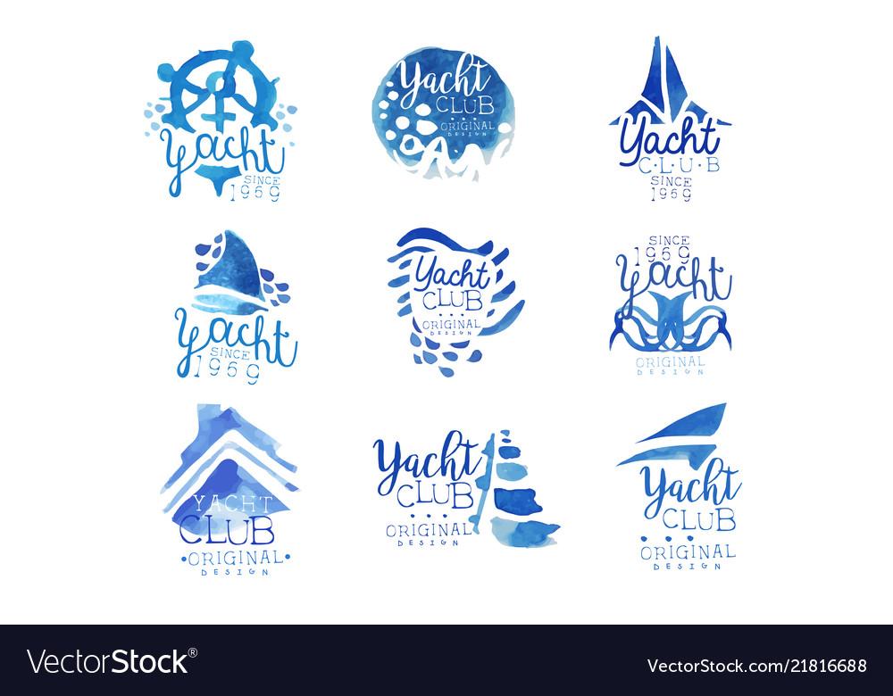 Yacht club sailing sports or marine travel