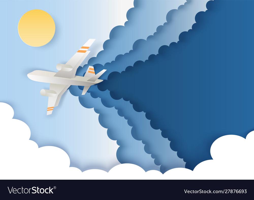 Airplane flying in sky in