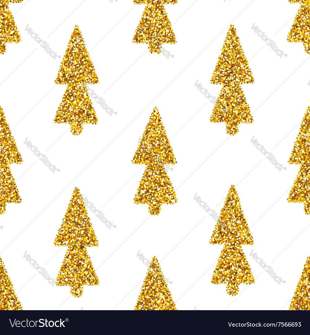 Christmas Tree White Seamless Background