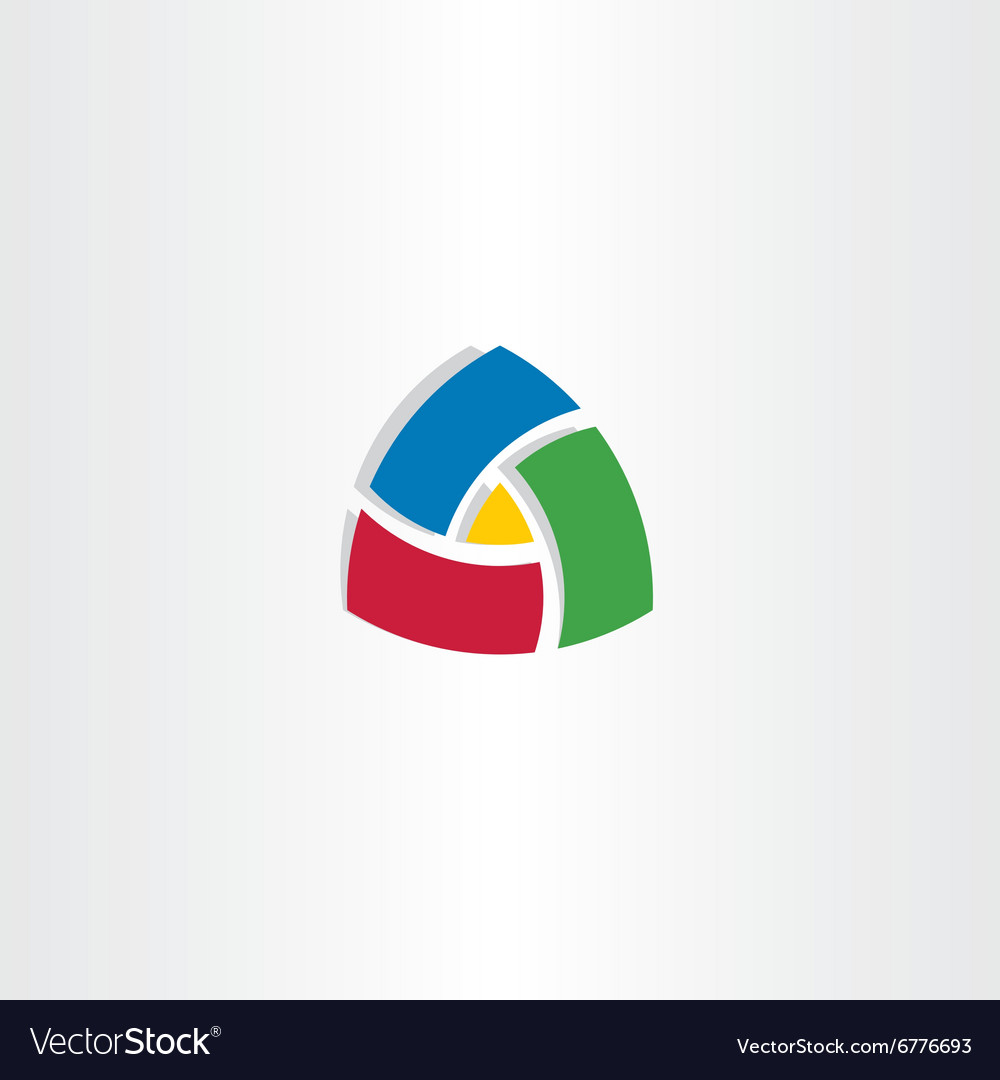 Colorful triangle abstract business logo