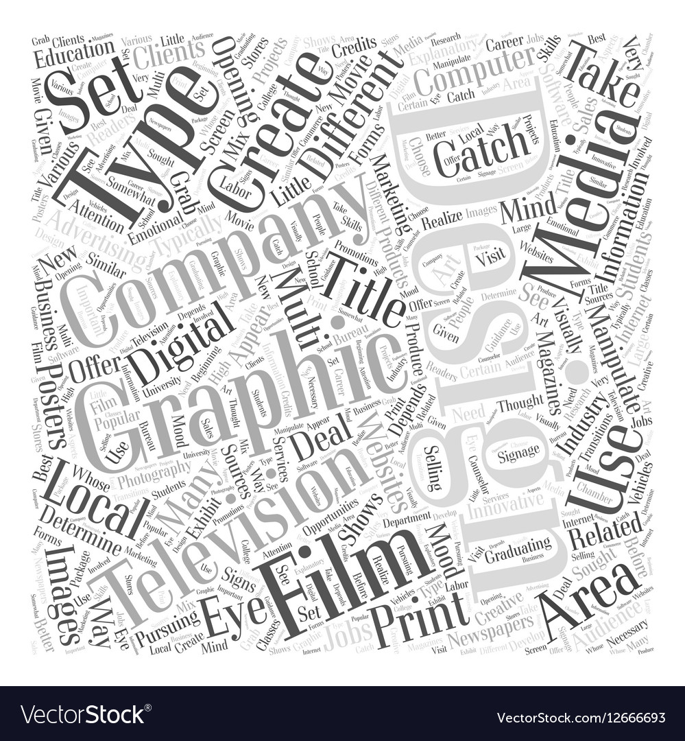 Graphic design companies Word Cloud Concept