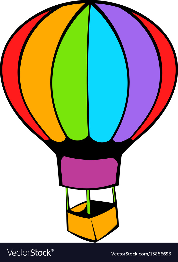 Hot air balloon icon icon cartoon