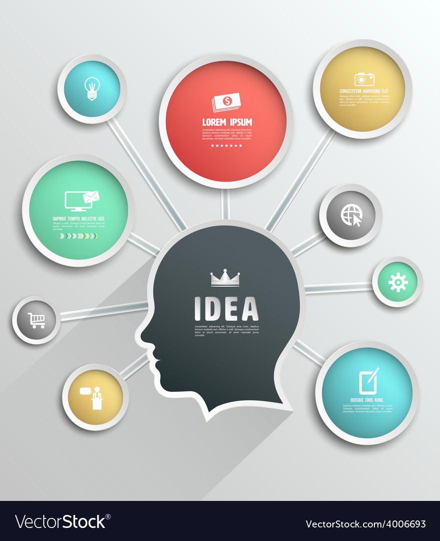 Modern Design Circle template background with head