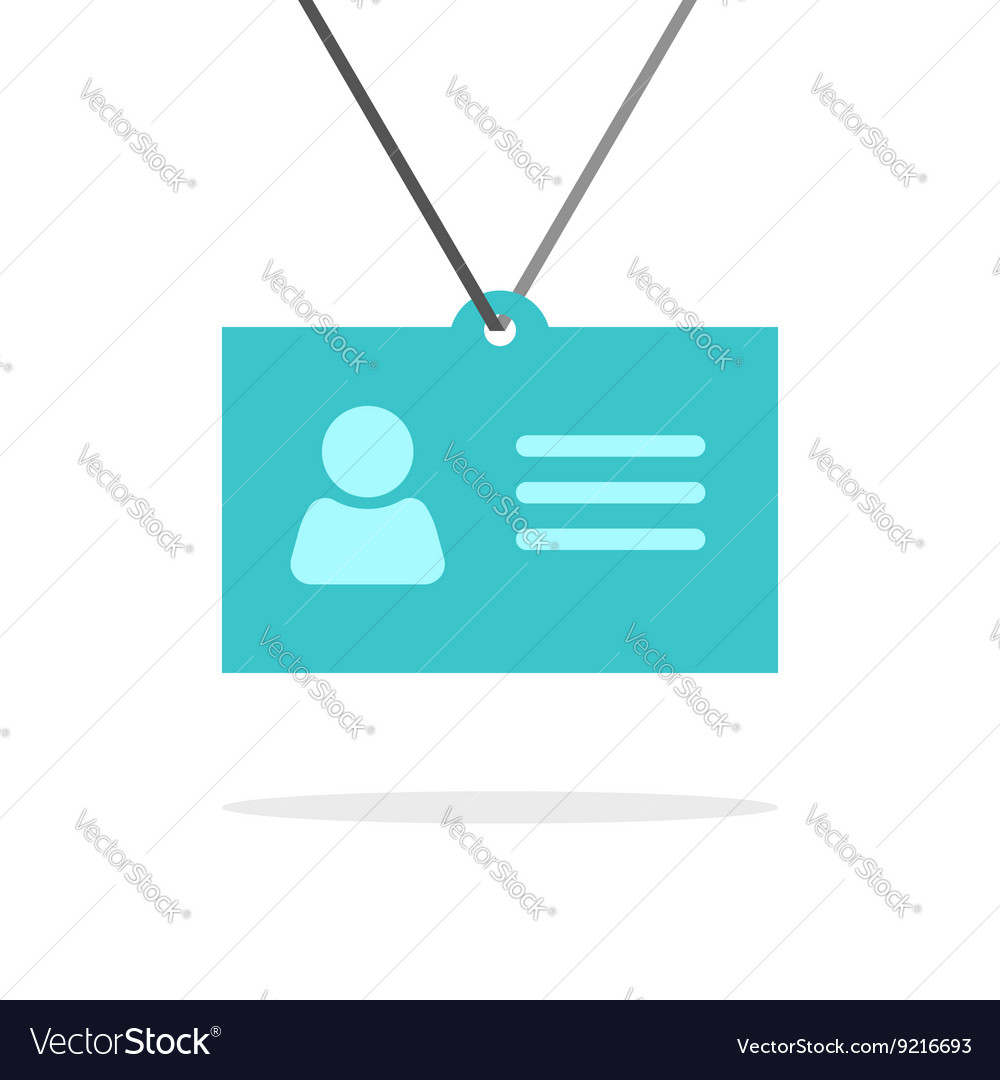 Name tag badge icon identification card vector image