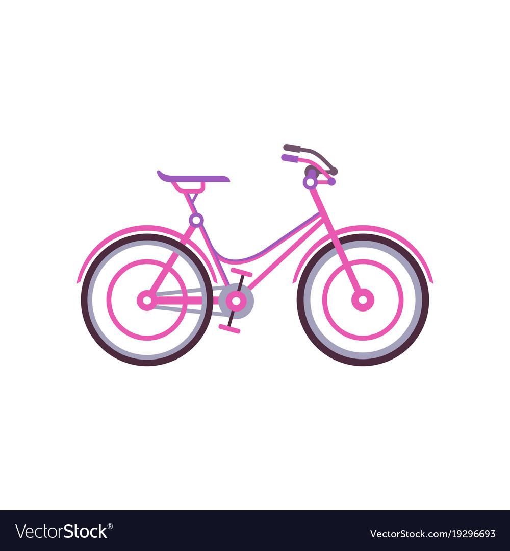 Pink classic women bike modern bicycle
