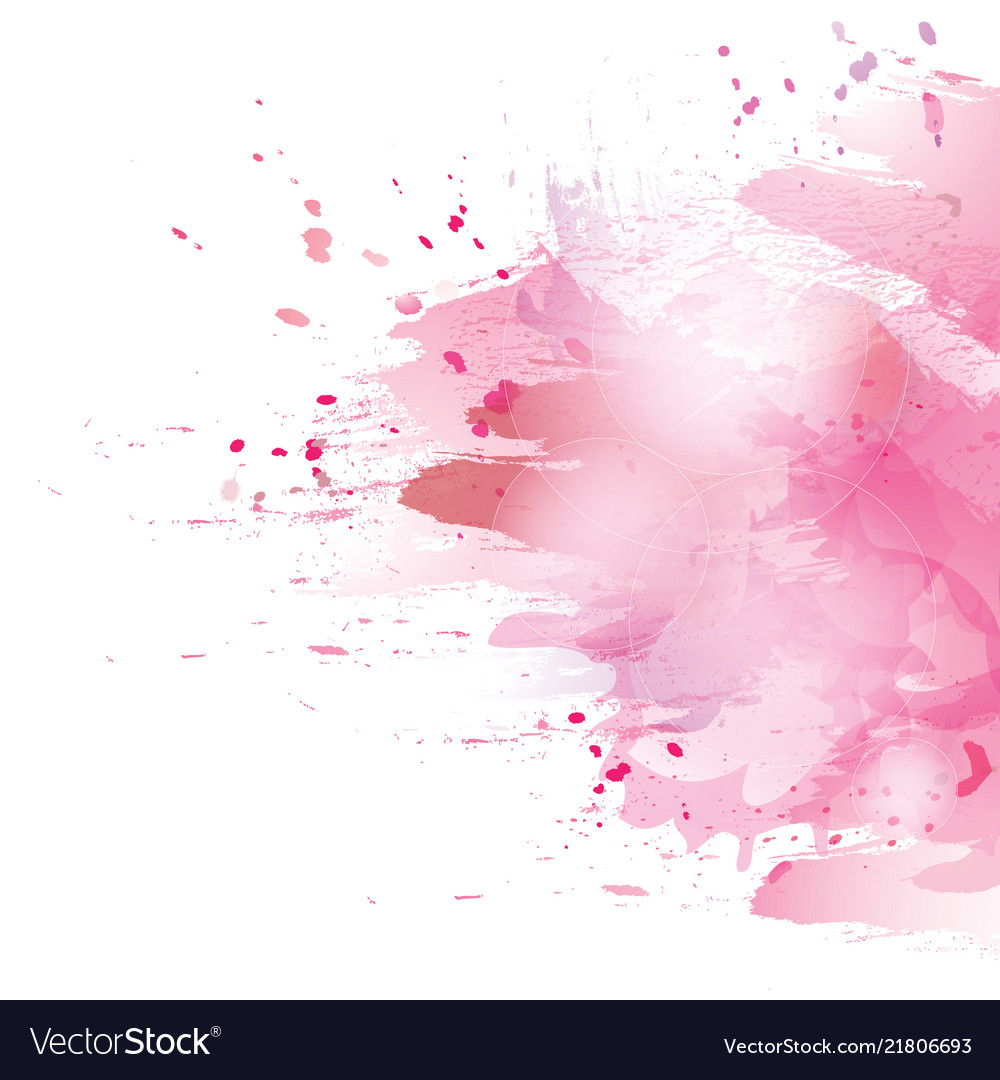 Pink splash vector image