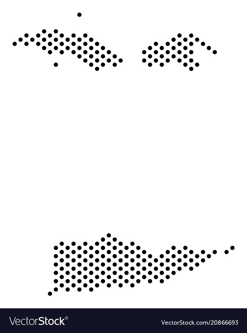 Pixel usa virgin islands map Royalty Free Vector Image