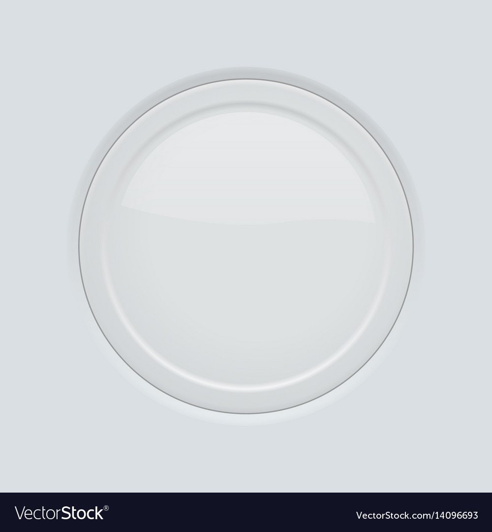 Round button pushed on gray interface background