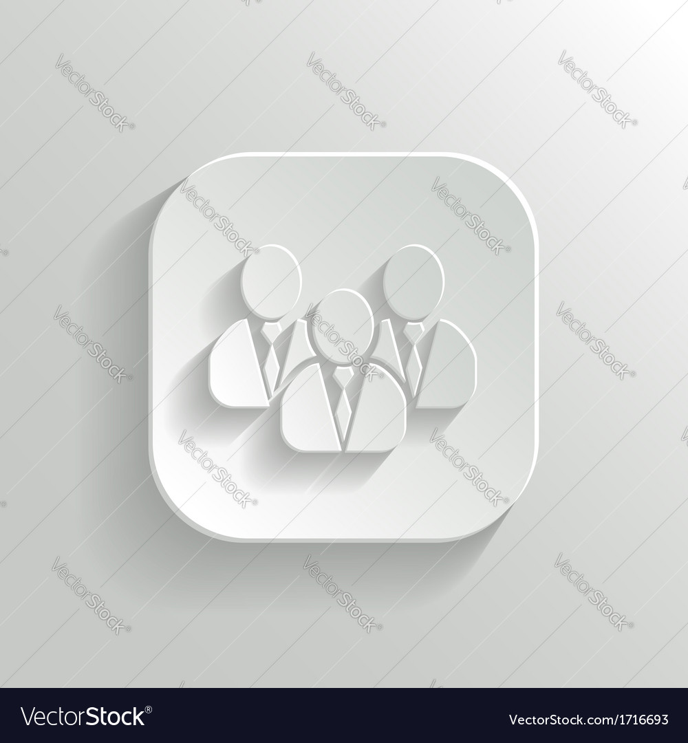 User group network icon - white app button